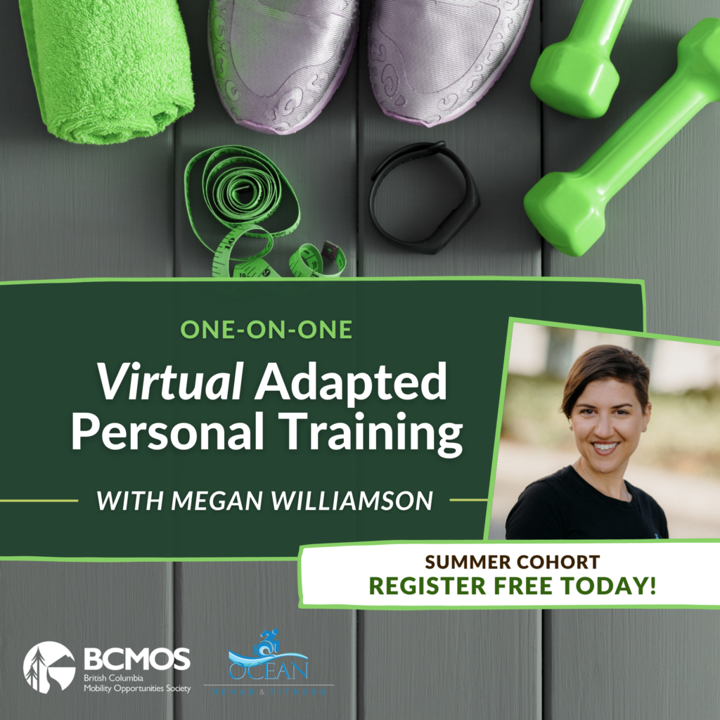 One-on-one Virtual Adaptive Personal Training with Megan Williamson. Summer cohort registration now open.